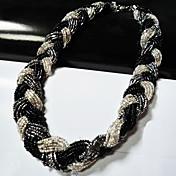 textura tejida collar trenzado