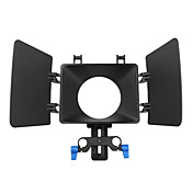 fotga® película DSLR uso película caja de mate sombrilla de 15mm ferrocarril plataforma varilla de seguimiento de enfoque
