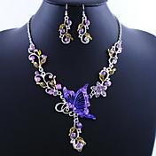 Mujer Juego de Joyas Pendientes colgantes Collares con colgantes Europeo Cosecha joyería de disfraz Legierung Mariposa Collares Pendientes