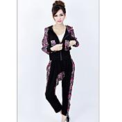 xinzhimeng terciopelo coreano de hip-hop de algodón elástico de moda traje negro ocio