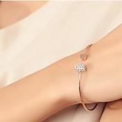 personalidad de la moda pulsera aberturas amor en forma de corazón llena de diamantes de las mujeres kegg®