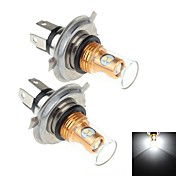 h4は8ワット8倍速サムスン2323 2個SMD 900LMション[6000k白色光は車のブレーキ信号/ステアリング/フォグランプランプ用LED(DC10〜30V)