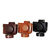 de cámara de cuero cubierta de la bolsa de la PU caso dengpin® para Olympus E-m10 Mark II mark2 EM10 (lente 14-42mm ez (colores surtidos)