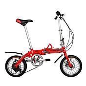 Bicicletas plegables Ciclismo 6 velocidad 14 pulgadas 44mm Unisex / Hombre / De las mujeres Doble Disco de Freno OrdinarioCuadro de