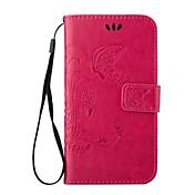 Para Samsung Galaxy S7 Edge Soporte de Coche / Cartera / con Soporte / Flip / En Relieve Funda Cuerpo Entero Funda MariposaCuero