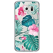 Para Samsung Galaxy S7 Edge Ultrafina / Traslúcido Funda Cubierta Trasera Funda Flor Suave TPU SamsungS7 edge / S7 / S6 edge plus / S6