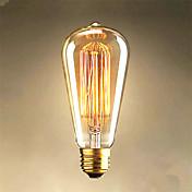 25w edison ST64 bombillas alambre recto a la venta Edison decoración arte de la luz