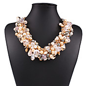 Mujer Collares con colgantes Collares Declaración Cristal Perla Artificial Legierung Sexy Moda Europeo joyería de disfraz Joyas Para Boda
