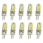 10 PC 1w g4 llevó las luces del bi-perno 24 smd 3014 100lm dimmable blanco caliente / blanco fresco dc12v