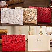 Doblado Superior Invitaciones De Boda 50-Tarjetas de invitación Estilo Floral Papel de tarjeta Flores