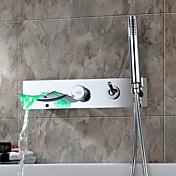 コンテンポラリー  with  クロム シングルレバー 五つ  ,  特徴  for 滝状吐水タイプ 壁式 LED