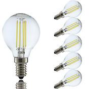 4w e14 llevó los bulbos del filamento p45 4 cob 350-400 lm blanco fresco / ac caliente blanco ac 220-240 v 6 PC