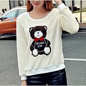 la felpa linda nuevo ocio salvaje oso suelta parche tipo camiseta de felpa jersey de lana femeninos mujeres