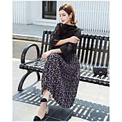 2017 dulce estilo pastoral florales plisadas falda coreana salvaje vestido de gasa de falda grande