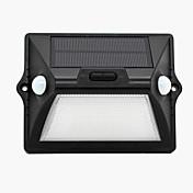 1pcs luz solar sensor de movimento ao ar livre ip65 impermeável levou sensoriamento luz de segurança da noite com auto branco e modo