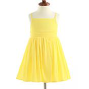 Vestido Chica de Un Color Algodón Sin Mangas