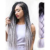 Háčky Afro Ombre pletení vlasů 100% kanekalon vlasy Black / Red Černá / Modrá Black / Purple Black / Green Grey Gradient Prodloužení vlasů