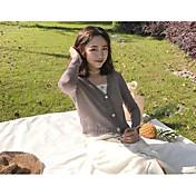 Mujer Simple Casual/Diario Primavera Chaleco,Escote en Pico Un Color Manga Larga Lino Regular