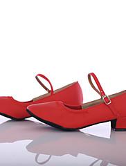 Feminino Moderna Courino Têni Interior Salto Personalizado Vermelho Personalizável