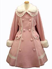 Kabát Gothic Lolita Princeznovské Cosplay Lolita šaty Růžová Černá Červená Módní Dlouhý rukáv Lolita Kabát Pro