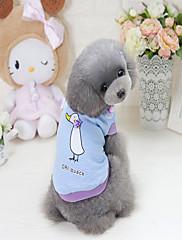 犬 スウェットシャツ 犬用ウェア カジュアル/普段着 カートゥーン柄 パープル ブルー