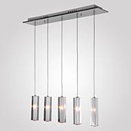 Luzes Pingente ,  Contemprâneo Ilha Cromado Característica for Cristal Metal Sala de Jantar