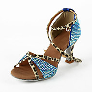 Couro / strass superior das mulheres tornozelo Correia Latina / Salsa Sapatos de dança (mais cores)