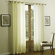 Two Panels Curtain Modern , Solid 55% Cotton Chenille/45% Rayon Rayon Material Curtains Drapes Home Decoration For Window