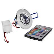 Stropní světla Zápustná 1 High Power LED 180 lm R GB Dálkové ovládání AC 85-265 V