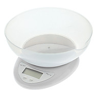 "wh-b05 cozinha 1.5 ""LCD digital escala de bancada com a bacia container - branco (2 x AAA)"