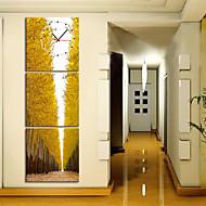 """12 """"-24"""" taiteellinen puiden luonnonkaunis seinäkello kankaalle 3kpl"""