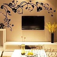 Kasvitieteellinen Wall Tarrat Lentokone-seinätarrat Koriste-seinätarrat,Vinyyli materiaali Pestävissä Irroitettava Kodinsisustus