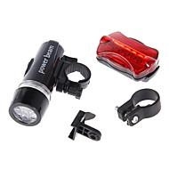 Lanternas LED Luz Frontal para Bicicleta Luz Traseira Para Bicicleta LED Ciclismo Alarme Impermeável AAA 100 Lumens Bateria Ciclismo