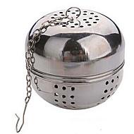 chá multifunções diam 5,5 centímetros bola inoxidável bloqueio infusor coador chaleiras
