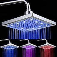 Chrome Finish Suorakaide 3 Colors LED Suihku Head