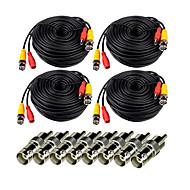 VideoSecu Pack de 4 150 pieds (50m) Power Video CCTV Security Camera Cable avec BNC à RCA Connecteur