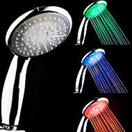 3-värilämpötila Sensitive LED väri muuttuvassa Käsisuihku