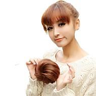 alta qualidade de casamento da noiva chignon bun extensão do cabelo peruca sintética 5 polegadas