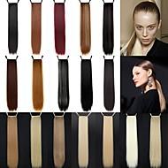 Excelente Qualidade Sintética 24 polegadas fita longa linha reta peruca rabo de cavalo - 18 cores disponíveis