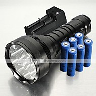 5 LED Lommelygter Lommelygter LED 12000 Lumen 5 Tilstand XM-L2 T6 6 x 18650 Batterier Nedslags Resistent Glidesikkert Greb Genopladelig