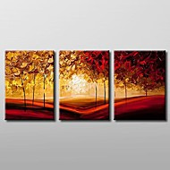 Pintados à mão Paisagem 3 Painéis Tela Pintura a Óleo For Decoração para casa