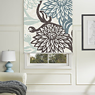 Painting Style Chrysanthemum Roller Shade