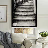 Contemporary Imressionistic Stairs Roller Shade