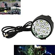 ヘッドランプ 自転車用ライト 自転車用ヘッドライト LED Cree XM-L T6 サイクリング 充電式 アングルライトのヘッド部 18650 7000 ルーメン バッテリー キャンプ/ハイキング/ケイビング サイクリング 狩猟 旅行 運転 登山-Marsing