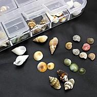 100kpl mix muodot luonnollinen kuori tarvikkeet eivät sisälly laatikko 3d nail art koristelu