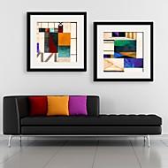 Fantasia Quadros Emoldurados / Conjunto Emoldurado Wall Art,PVC Preto Cartolina de Passepartout Incluída com frame Wall Art