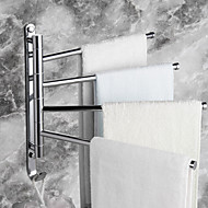 """Handdoekstang Chroom Muurbevestiging 328 x 300mm (12.9 x 11.8"""") Messing Modern"""