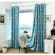 Country  Modern European Two Panels Cartoon Blue  Pink Kids Room Polyester Curtains Drapes