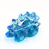 estilo de carro de plástico + borracha manualmente massageador - azul