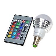 3W E14 LED kulaté žárovky 300 LM lm R GB Dálkové ovládání AC 100-240 V 1 ks